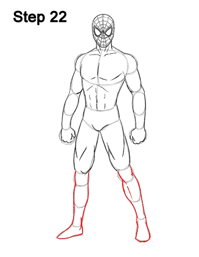 How to Draw Spider-Man (Full Body)