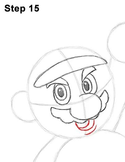 How to Draw Super Mario (Full Body)