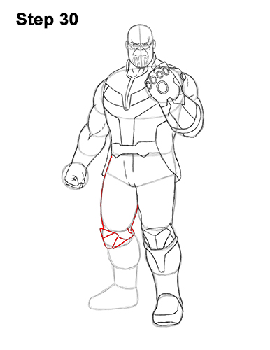 How to Draw Thanos VIDEO & Step-by-Step Pictures