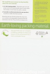 Earth Loving Packing Material from Macy's