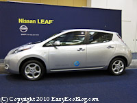 Nissan leaf plug-in electric car