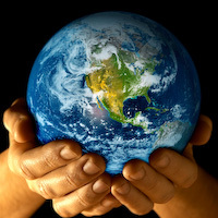 Earth, Reuse, Hands Holding Earth
