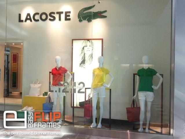 snap red custom poster frame at lacoste wwweasyflipframescom flip frames