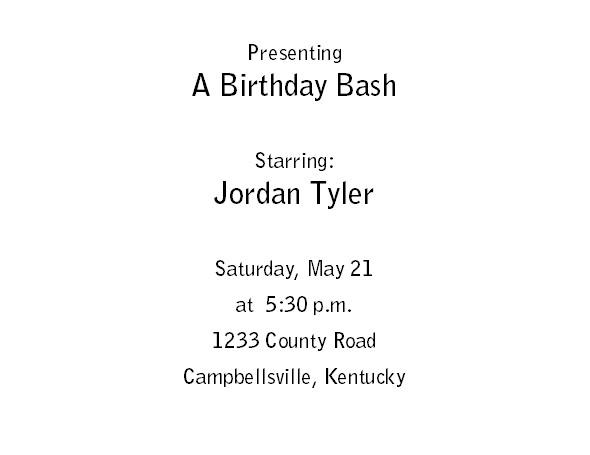 Free Printable Birthday Invitations 1