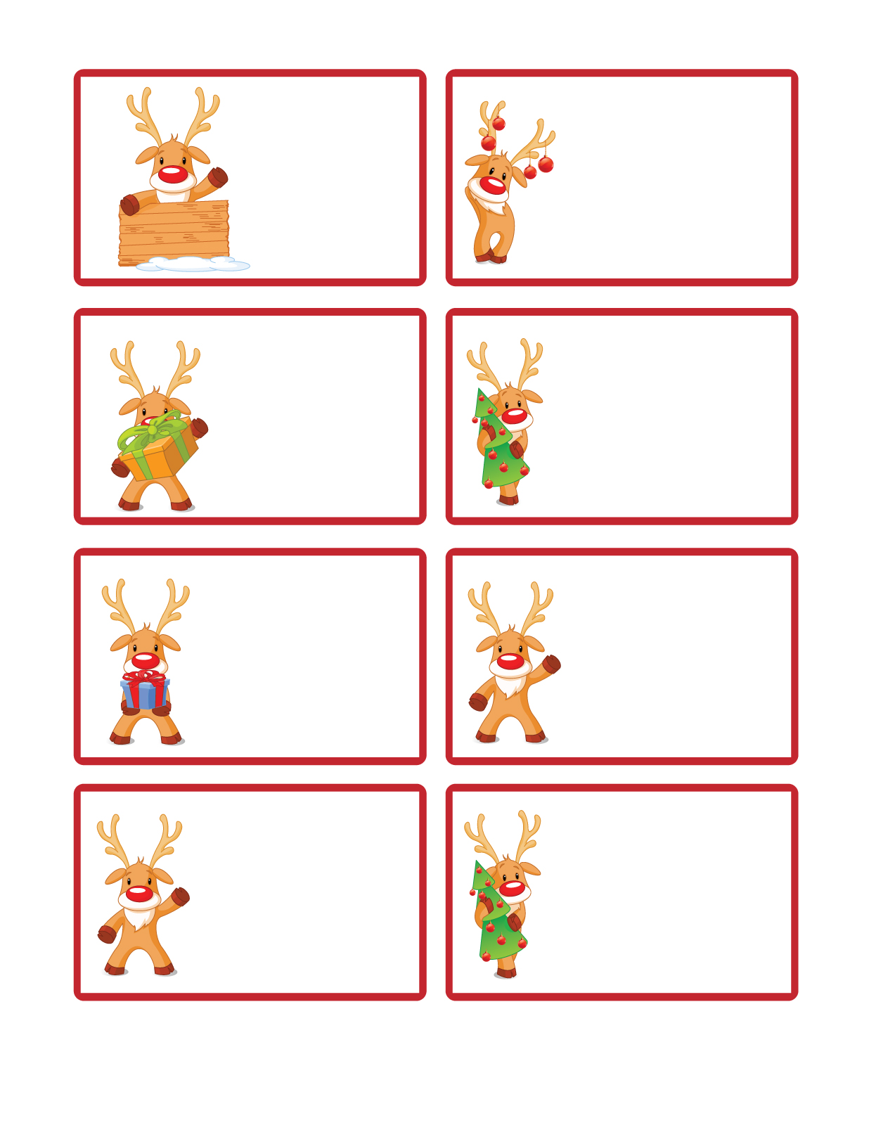 graphic regarding Free Printable Christmas Labels known as Letters versus Santa gives: Free of charge Printable Xmas Present