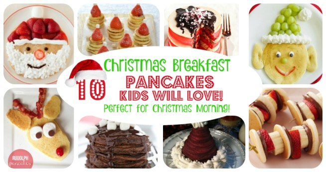10 Fun and Festive Holiday Breakfast Ideas! Christmas Pancakes Kids Will Love! Perfect breakfast idea for Christmas Morning! || Letters from Santa Holiday Blog