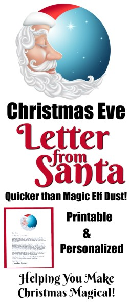Choose any of our 20+ Santa Letter Templates to design your very own Christmas Eve Letter from Santa! Printable and Personalized! Helping You Make Christmas Magical!! || Letters from Santa