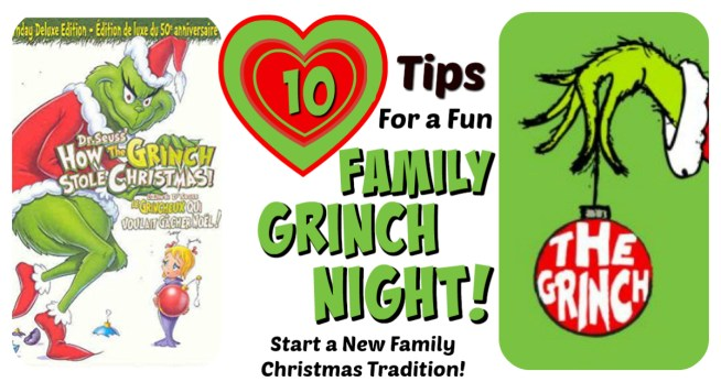 10 Tips for a Fun Family Grinch Night! || Grinch Night! A Fun Family Christmas Tradition! || Letters from Santa Holiday Blog