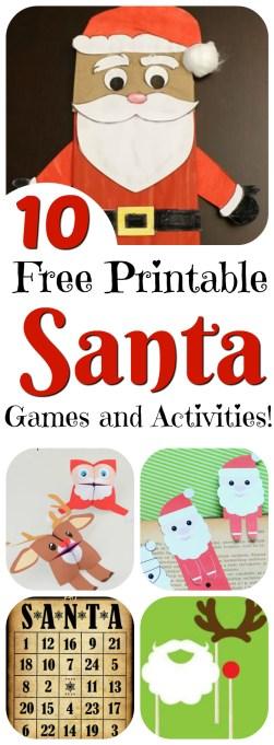 Looking for Santa craft ideas? Printable Santa: 10 Free Santa-themed Games and Activities! || Letters from Santa Holiday Blog