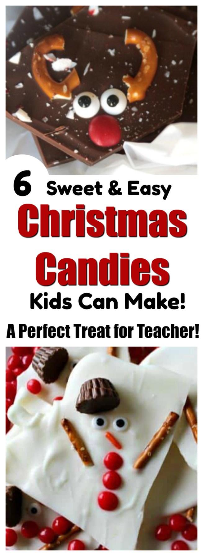 Sweet Treats For Teacher Christmas Candy Kids Can Make