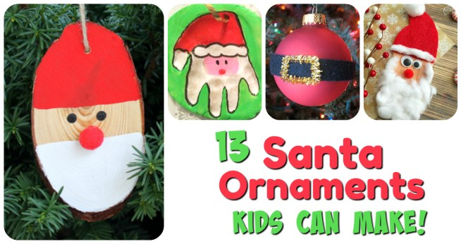 Looking for some great ideas for Santa Ornaments? Here are 13 simple Santa ideas for home, Christmas classroom activities, or Christmas party craft tables!    Santa Ornaments Kids Can Make! 13 sweet Santa Ornaments your kids will love!    Letters from Santa Holiday Blog