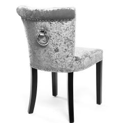 Chair Design With Handle Upholstered Dining Chairs Target Regal Glam Crushed Velvet Silver Or