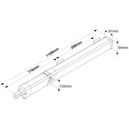 BFT Giuno Ultra BT A20 24V Kit for Swing Gates (2m / 300kg)