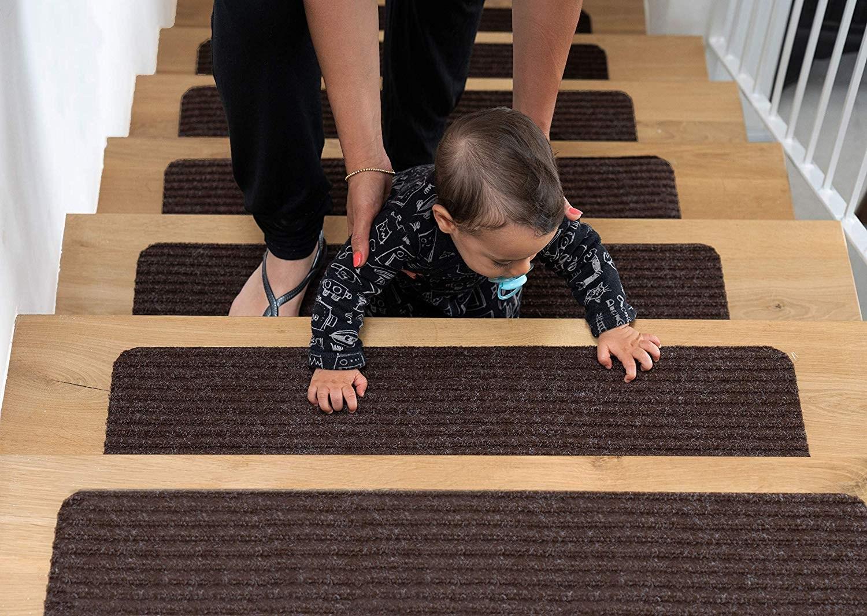 Top 10 Best Stair Treads In 2020 Reviews Buyer S Guide   Elogio Carpet Stair Treads   Carpet Runners   Carpet Flooring   Skid Rubber   Pet Dog   Skid Resistant