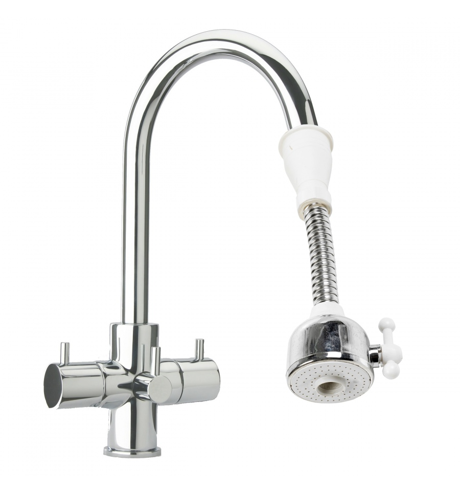 stainless steel kitchen faucet with pull down spray rubber flooring flexible tap aerator [680132]