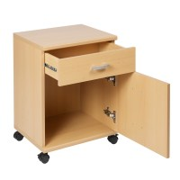 Capo One Drawer & 1 Door Mobile Chest Cabinet Beech ...