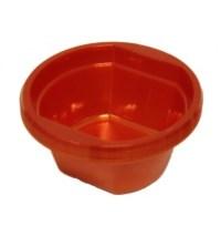 10 Red Soup Disposable Plastic Bowls