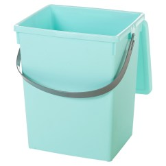 Small Recycling Bins For Kitchen Space Saving Tables 5 Litre Table Top Food Bin Worktop
