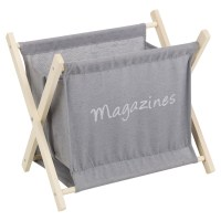 Wooden Magazine Newspaper Rack Holder Organiser Floor ...