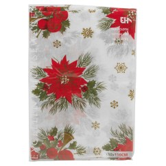 Ebay Uk Christmas Chair Covers Ribbons Bows Disposable Tablecloth Festive Rectangle Table