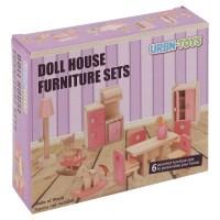 Kinder Holz Puppenhaus Mbel Sets Badezimmer Schlafzimmer ...