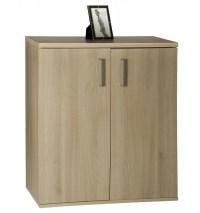 Two Door Three Shelf Cabinet - Acacia