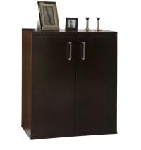 Two Door Five Shelf Cabinet - Tobacco