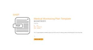 Medical monitoring plan template
