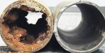 clogged pipes cause low water pressure