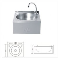 COMPACT Stainless Steel Knee Operated Hand Wash Basin Sink