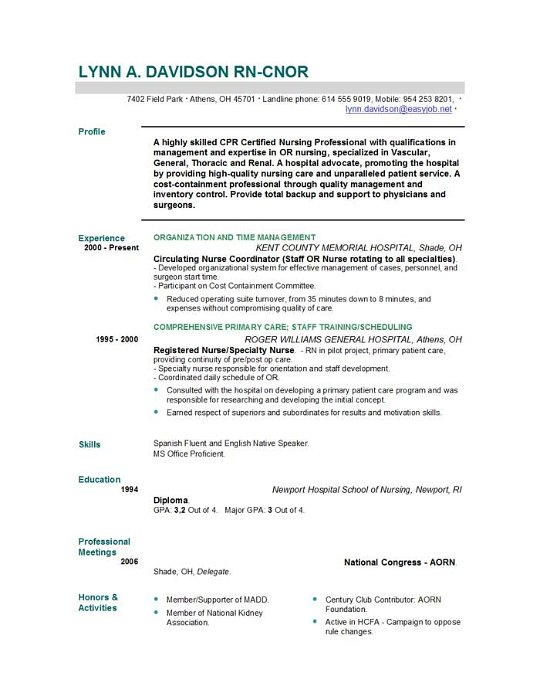 Rn Resume Examples Mid Level Nurse Resume Sample Nursing Resume