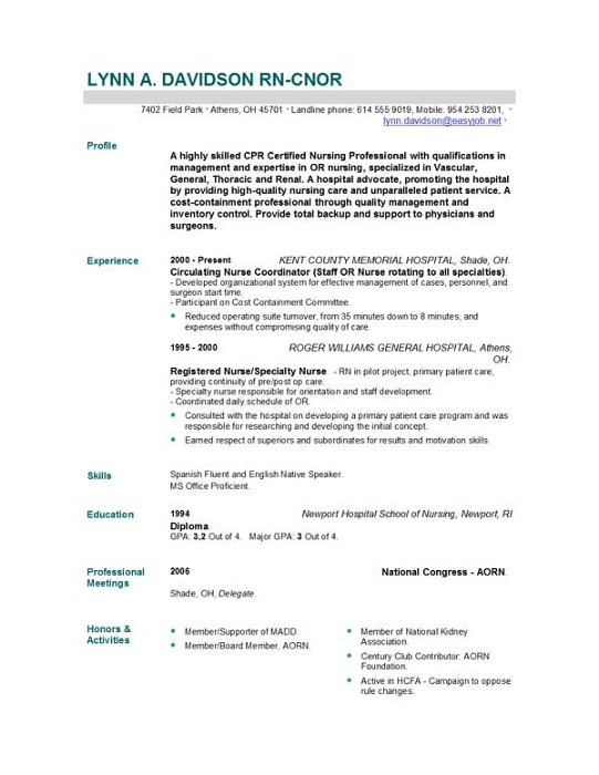 Examples Of Nursing Cover Letters For Resumes Examples Of Resumes