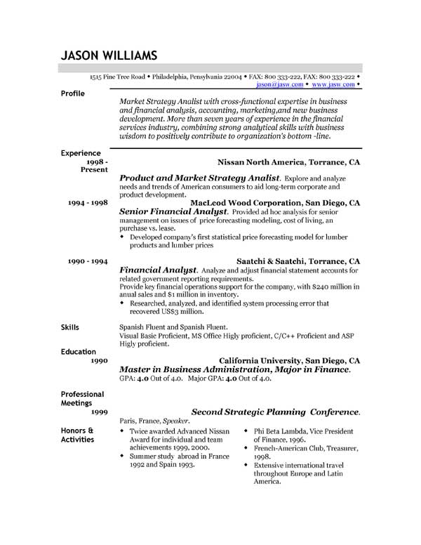 Resume example uk