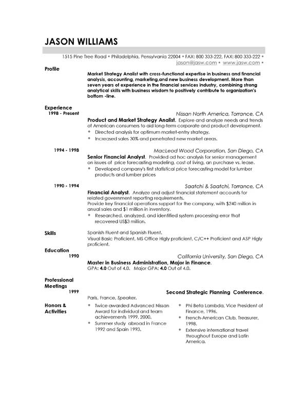 really good resume templates - Really Good Resume Examples