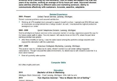 Education On Resume No College Sample Interview