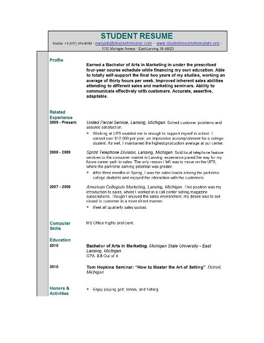 undergraduate student resume samples Oylekalakaarico