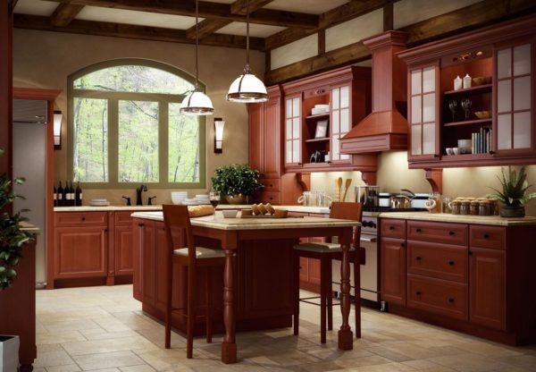 Builder Cinnamon Glaze Kitchen