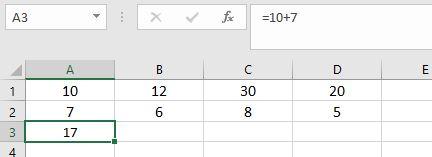 Basic sum formula in Excel