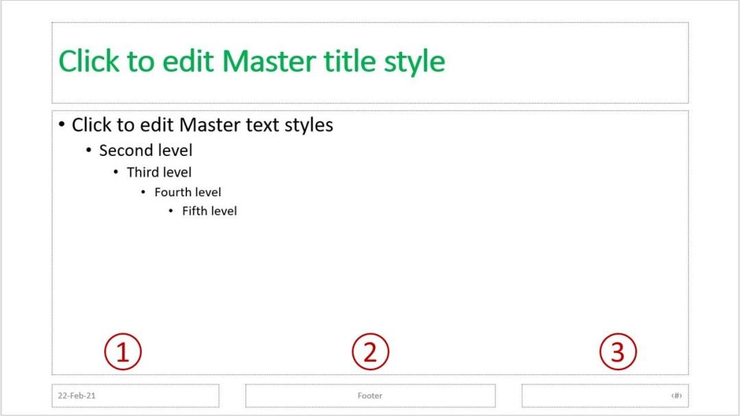 Default slide In PowerPoint slide master