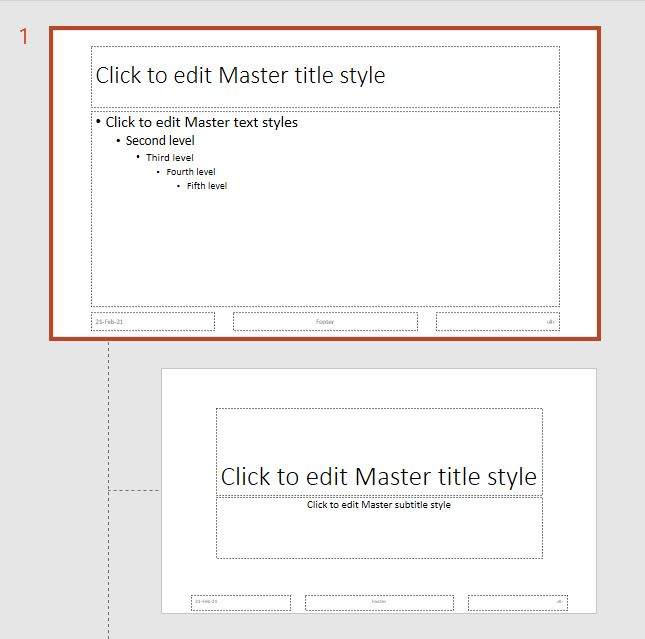 first slide display in powerpoint