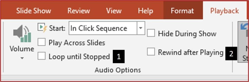 custom playback settings for audio clip