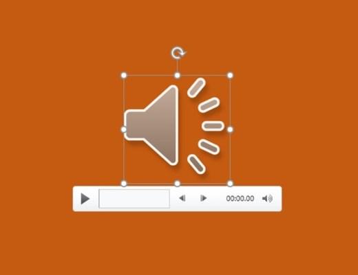 insert audio on powerpoint slide