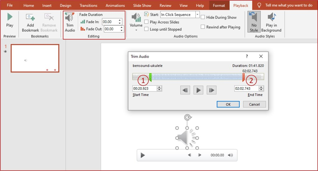 playback options on powerpoint