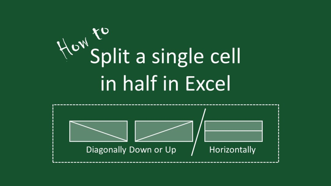 how to split a cell in half in excel