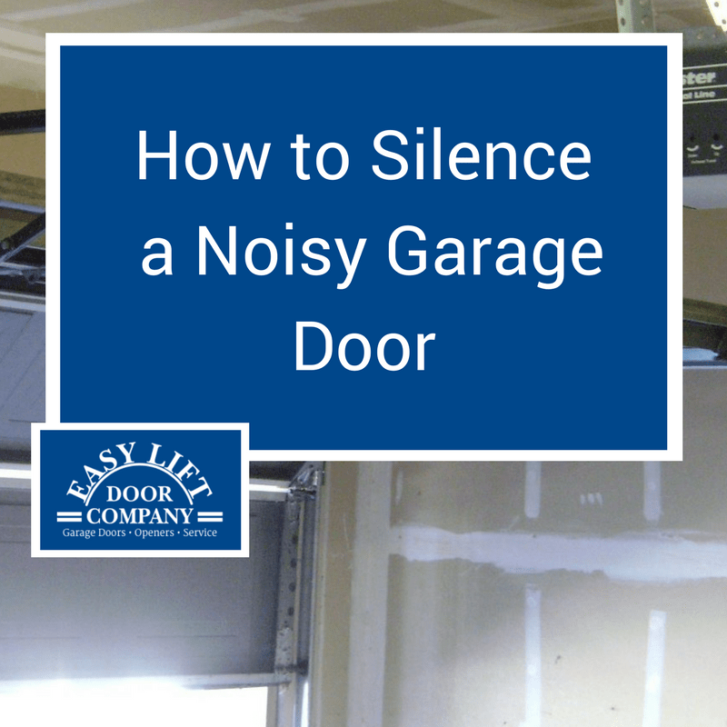 How to Silence a Noisy Garage Door