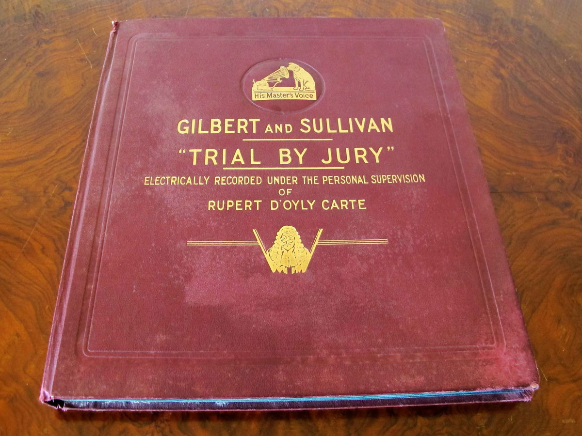 HMV Record of Trial By Jury in the Saloon