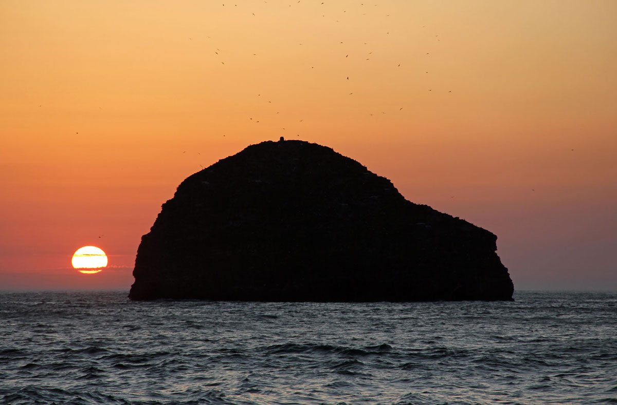Gull Rock from Trebarwith Strand