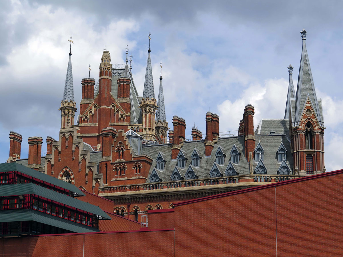 St Pancras Railway Station from the British Library
