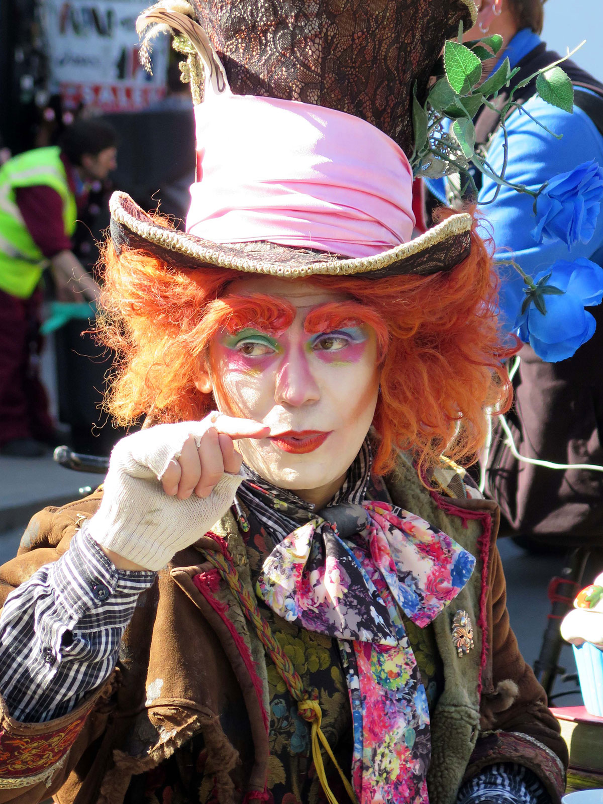 A Mad Hatter in Camden High Street