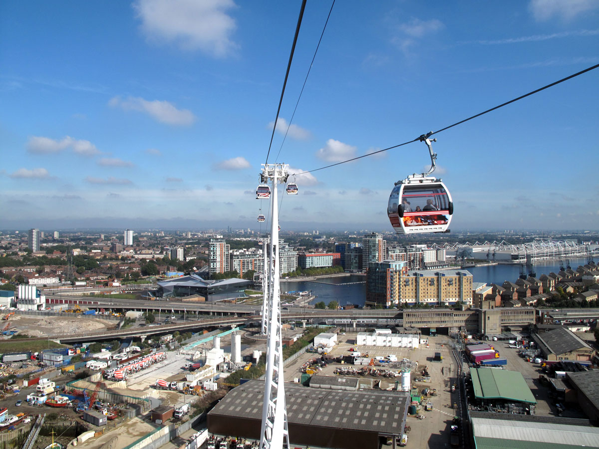 View of Royal Victoria Dock from the Emirates Cable Car
